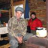 Diego and ranger, Leonid. <br /> Леонид - охотовед и Диего, корреспондент в избушке.