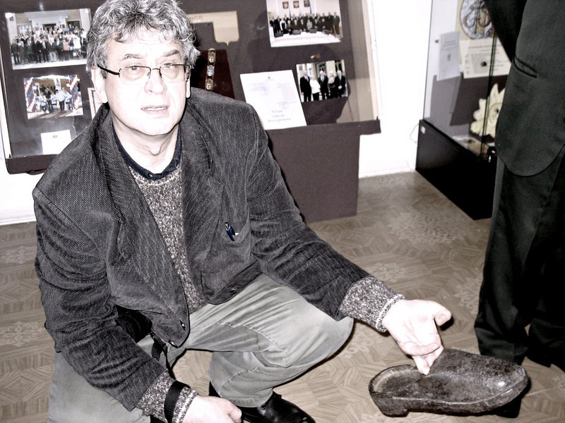 Metal shoes worn by forced labor convicts.