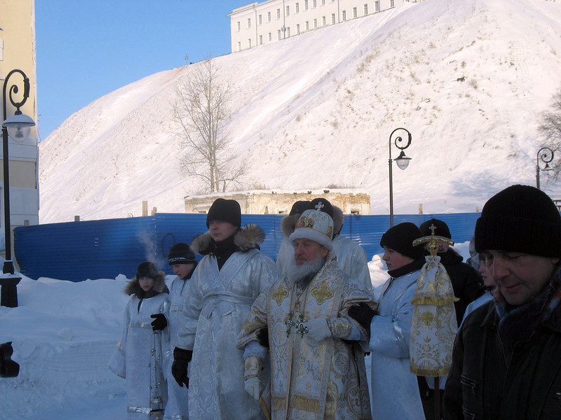 Russian Orthodox priests. Day of the Epiphany. (Tobolsk)