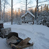 Our sledge - 45 minutes in the freezing cold (-35C) on this thing!<br /> <br /> Транспортное средство для езедв по лесу почти час... На 35 градусном морозе.