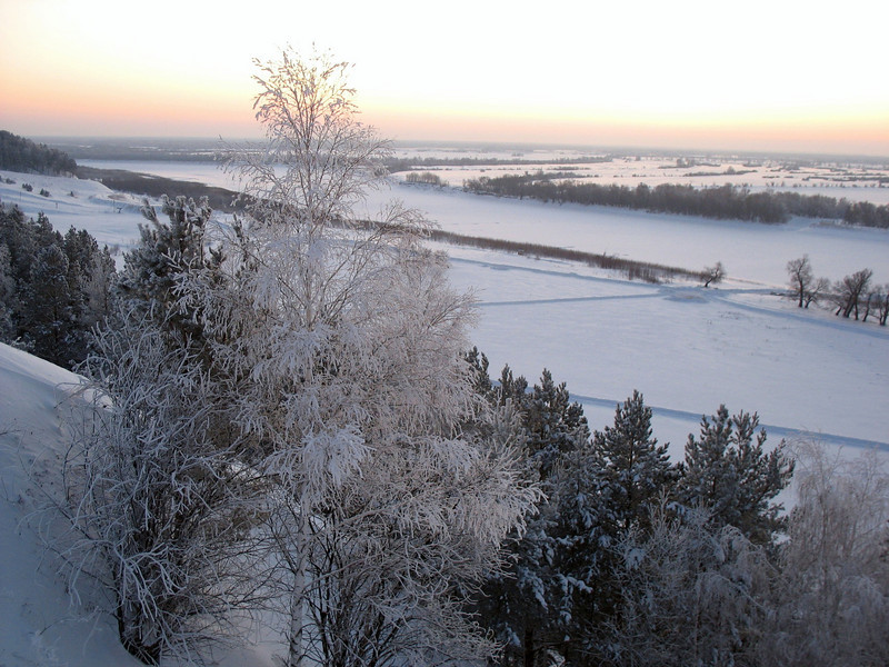 View of the Irtysh River from the walls of Abalak Monastery. (Tobolsk) <br /> У стен монастыря Абалак, вид на Иртыш.
