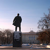 Lenin in Tyumen. Ильич на главной площади Тюмени.