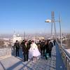 "Wedding party on Lover's Bridge. ""Мост влюблённых"" - Тюмень."