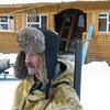 Game ranger ready for the hunt.  Володя Ульянов, охотовед перед выходом на осмотр вверенной территории.