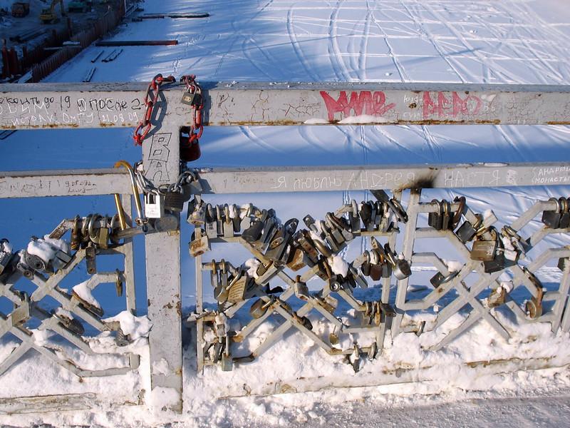 Lover's Bridge locks. The locks symbolize a couple's hearts locked forever.