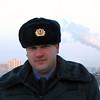 Cop who was assigned to guard us. Милиционер Денис охранял наше спокойствие.