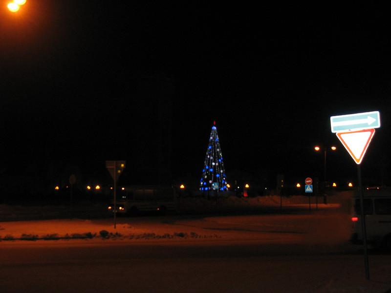 Tobolsk New Year's tree.