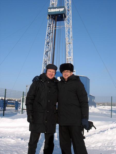 With Gleb Ovsjannikov, V.P., Public & Government Relations, Schlumberger, at their training center. (Tyumen, Russia)