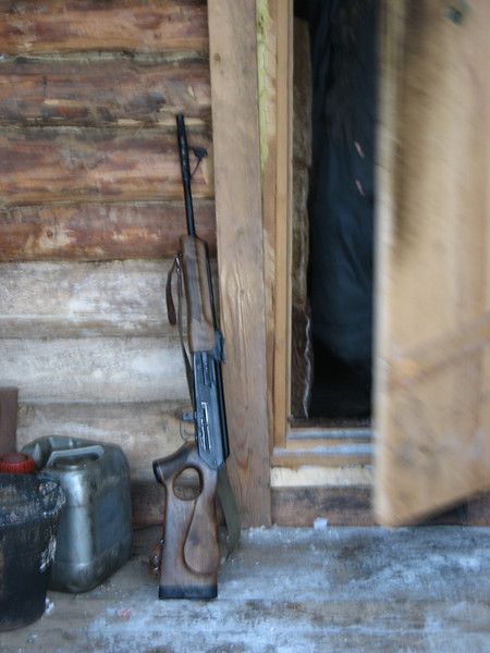 Entrance to the game ranger's cabin.