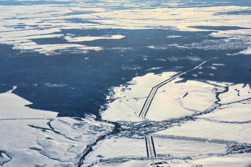 Flying into Ulyanovsk.