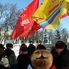 Митинг в годовщину смерти Ленина в Ульяновске. 21 января 2012 года - Communist meeting honoring Lenin on the day of his death.
