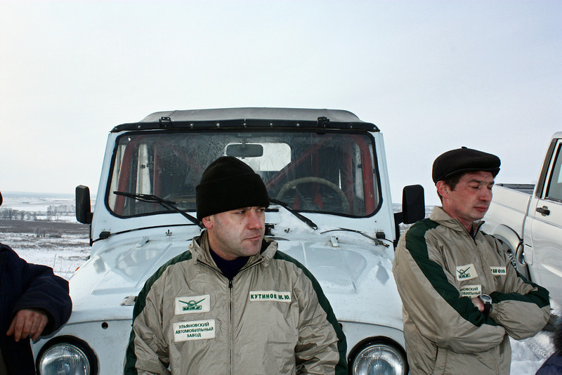 UAZ test drivers & guards.