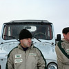 UAZ test drivers & guards.