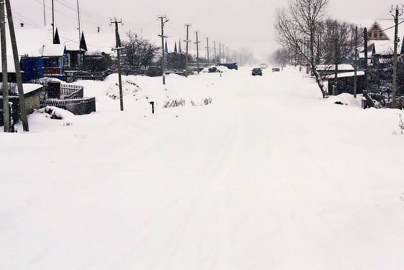 Main street of Tatarsky Saiman.
