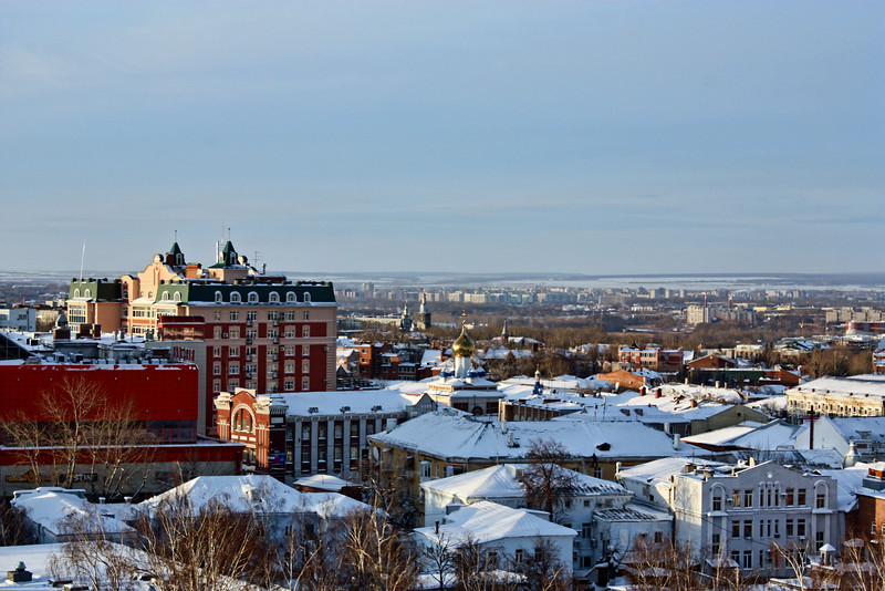 Ульяновск зимним январским утром - Ulyanovsk on a January morning.
