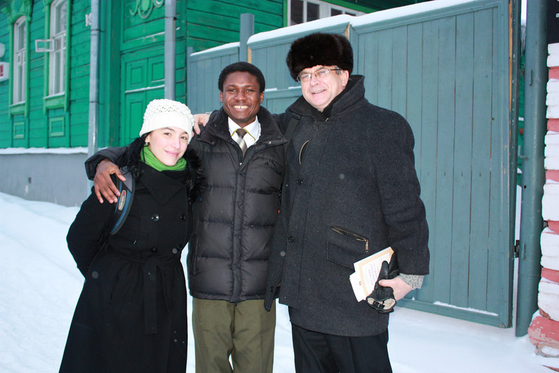 Dennis Narko from Ghana is completing medical school at Ulyanovsk State University.