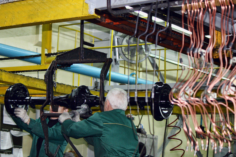 UAZ assembly line.