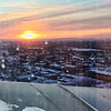 Sunrise over Ulyanovsk from the hotel window.