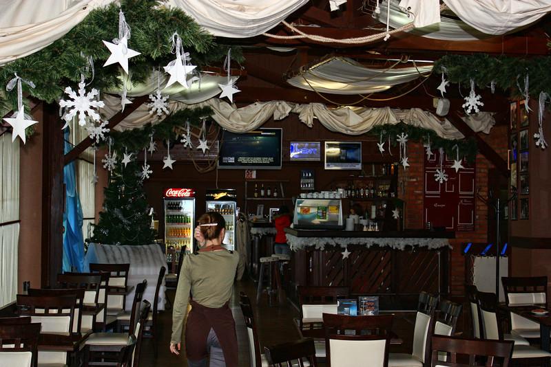 Café interior.