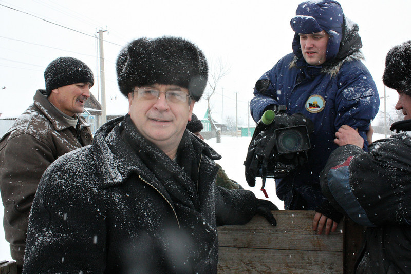 It was a cold, snowy day in Tatarsky Saiman.