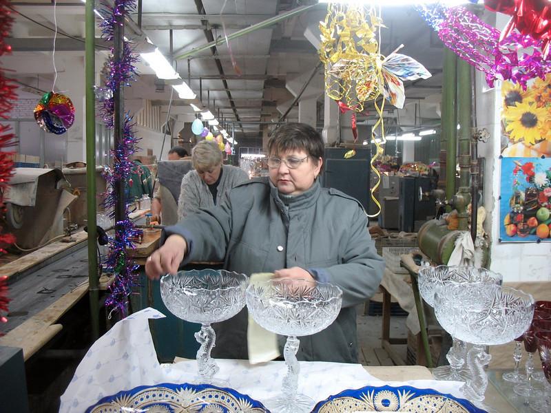 Quality control. Gus-Khrustalny, Russia.