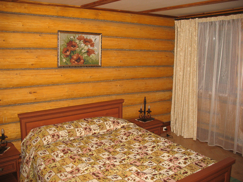 """My bedroom at the """"Hot Springs"""" cottage compound."""