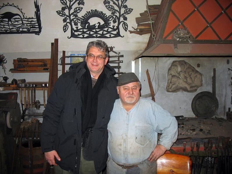 With Yuri Borodin, Vladimir artisan.