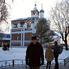 In front of the bell tower at the The Monastery of our Saviour & St. Euthymius. (Suzdal, Russia)