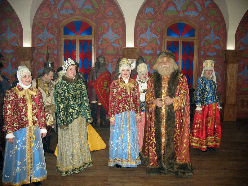 The Great Duke of Vladimir with ladies of the court. (Re-enactment)