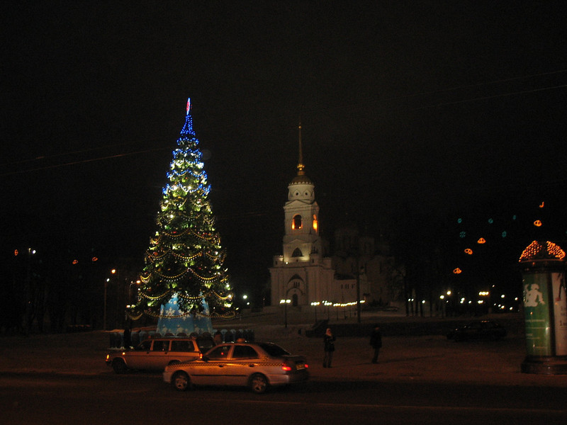 Vladimir at night. Merry Christmas!