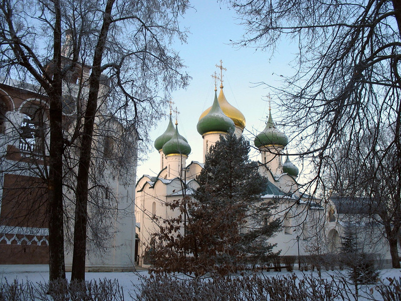 Suzdal church domes.