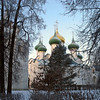 Suzdal church domes.
