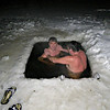 Russian skinny-dipping. Down you go...