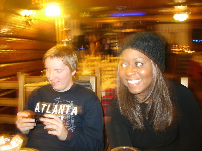 Yuri & Staci enjoying a night out in Vladimir.