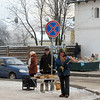 Selling honey & roses made from birch bark on the streets of Suzdal.
