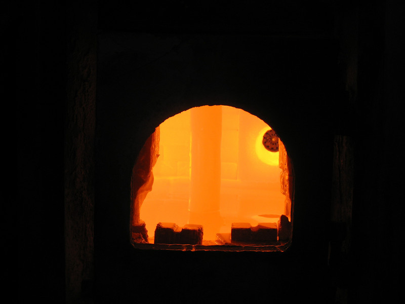 Crystal Goose oven. Gus-Khrustalny, Russia.