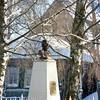 Bust of Emperor Alexander II who liberated Russians from serfdom.  Бюст императора Александра II - Освободителя в селе Вятское Ярославской облласти.