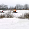 "Snowmobiling at the Uglich winter festival. <br /> Углич, фестиваль ""Зимние забавы""."