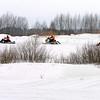 "Snowmobiling at the Uglich winter festival. <br /> Углич, фестиваль ""Зимние забавы""."