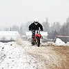 Motorcycle motor-cross at the Uglich winter festival.