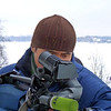 Оператор RT Азат Отогонов за работой.<br /> RT cameraman, Azat Otogonov, shooting on the banks of the Volga.