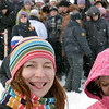 "Tasting the snow at Uglich's Winter Fun Festival. Углич, на фестивале ""Зимние забавы""."