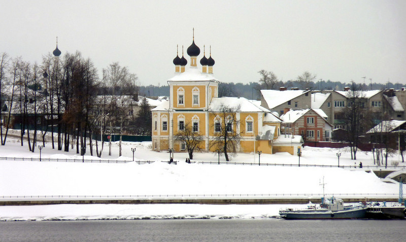 Uglich's Cathedral of the Transfiguration as seen from the Volga River.