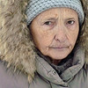 Woman dressed against the cold on the street in Yaroslavl, Russia.