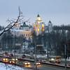 Yaroslavl's Spaso-Preobrazhensky Monastery at dawn.<br /> Спасо-Преображенский монастырь утром.