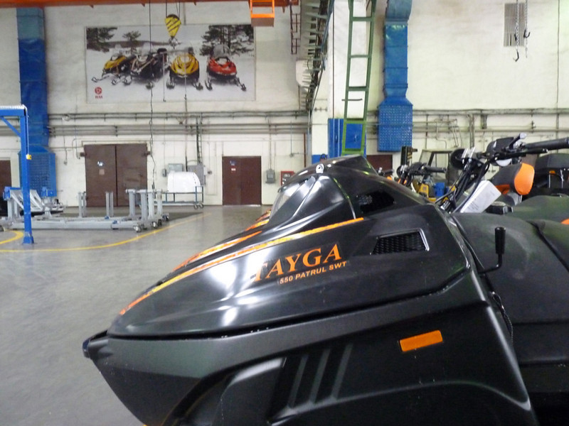 The Tayga snowmobile is used by Russian police.