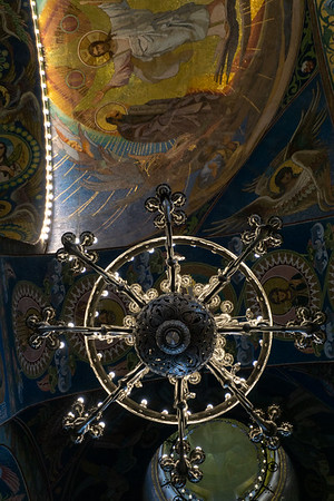 Chandelier, Church of the Saviour on Spilled Blood, St. Petersburg, Russia