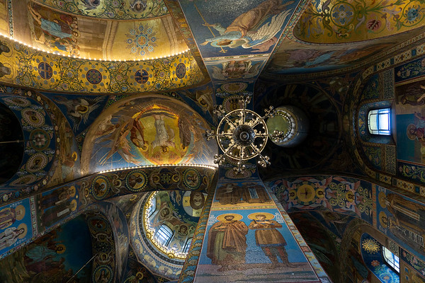 The ceiling of the Church of the Saviour on Spilled Blood, St. Petersburg, Russia
