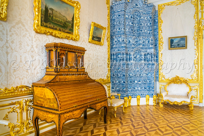 Interior of Catherine's Palace in St. Petersburg, Russia.