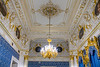 Interior architecture of the Faberge Museum in St. Petersburg, Russia.